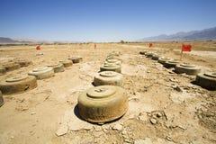 Minas antis del tanque fotos de archivo