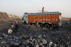 Minas de carbón en la India Imágenes de archivo libres de regalías
