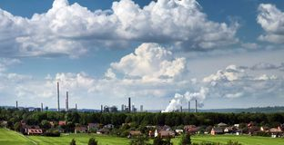 Minas de carvão pretas em Karvina Imagem de Stock Royalty Free