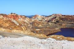 Minas de Riotinto, Nerva. Huelva-Provinz, Andalusien, Spanien Lizenzfreie Stockfotos