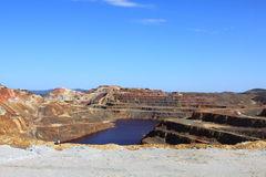 Minas de Riotinto, Nerva. Province de Huelva, Andalousie, Espagne Image stock