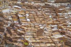Minas de sal antiguas de Salinas de Maras, Cusco, Perú foto de archivo libre de regalías