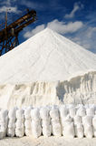 Minas de sal em Colômbia foto de stock