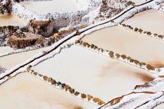 Minas de sal en el valle sagrado de los incas imagen de archivo libre de regalías