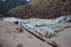 Minas de sal no Peru imagem de stock
