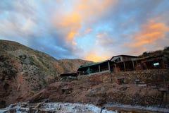 Minas de sal no Peru fotos de stock