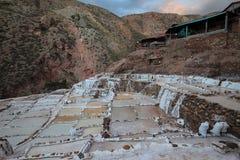 Minas de sal no Peru foto de stock royalty free