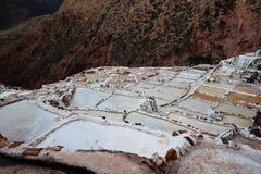 Minas de sal no Peru foto de stock