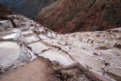 Minas de sal no Peru fotografia de stock royalty free