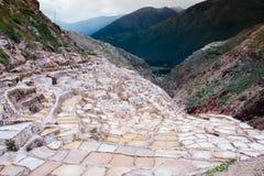 Minas de sal, Perú Imágenes de archivo libres de regalías