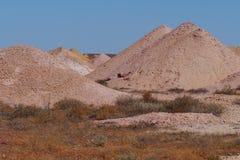 Minas del ópalo en Coober Pedy fotografía de archivo