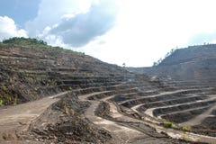 Minas do zinco foto de stock