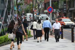 Minato,东京 免版税库存照片