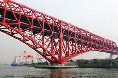 Minato bridge in Osaka. City Stock Images