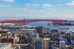 Minato Bridge in Osaka, Japan Royalty Free Stock Images