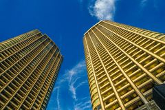 Minato-ku and groups of buildings of Shiodome royalty free stock image