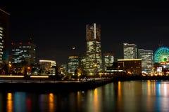 Minato Mirai Bay. Minato Mirai in Yokohama Japan at night Stock Image