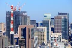 Minato, Tokyo. Tokyo skyline - aerial city view with Minato ward skyscrapers Royalty Free Stock Image