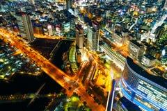 Minatomirai地区在横滨,日本 库存照片