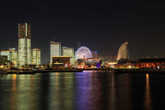 Minatomirai 21 area in the twilight in Yokohama, Japan Stock Images
