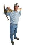 Minatore con il piccone integrale Fotografia Stock