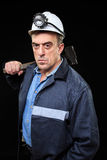 Minatore con una mazza Fotografia Stock
