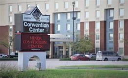 Minatore Convention Center, minatore Illinois immagini stock libere da diritti