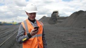 Minatore del minatore della miniera di carbone video d archivio