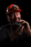 Minatore delle miniere di carbone Immagine Stock