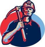 Minatore delle miniere di carbone Pick Axe Retro Fotografia Stock