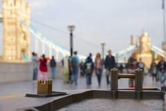 Minature Bronze model Tower Bridge, London Stock Photo