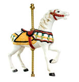 Minature Carousel Horse. On white background Royalty Free Stock Image