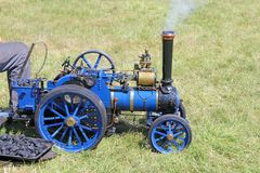 Minature steam traction engine Stock Photo