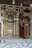 Minbar在清真寺 免版税图库摄影