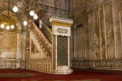 minbar默罕默德阿里的清真寺 库存图片