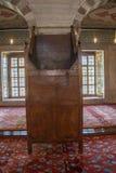 Minbar de madera, púlpito del sermón de los tiempos del otomano Imagen de archivo libre de regalías