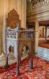 Minbar di legno, quadro di comando di sermone dei tempi dell'ottomano fotografia stock