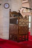 Minbar di legno, quadro di comando di sermone dei tempi dell'ottomano immagine stock libera da diritti