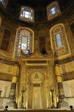 Minbar at hagia sophia. Gilded minbar at historical hagia sophia building in istanbul Stock Photo