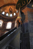 The minbar of Hagia Sophia Stock Photo
