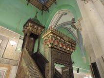 Minbar inom grottan av patriarkerna, Jerusalem Arkivbilder