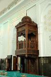 Minbar of Sultan Abdul Samad Mosque (KLIA Mosque) Stock Photo