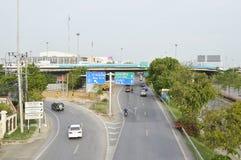 Minburi路街道视图泰国 免版税库存图片