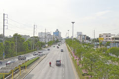 Minburi路街道视图泰国 库存照片