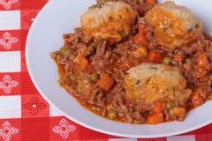 Mince and Dumplings Stock Photos