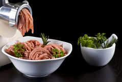 Mince and meat grinder Royalty Free Stock Photography
