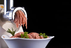 Mince and meat grinder Stock Images