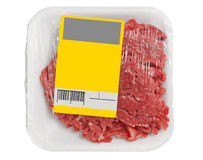 Mince meat in packaging Royalty Free Stock Image