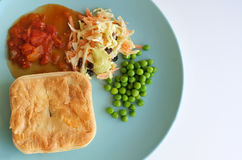 Mince meat pie served on a plate stock photo