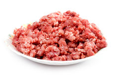 Mince meat on plate Royalty Free Stock Images